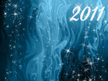 Illuminated background 2011. Sparkling illuminated new year background Vector Illustration