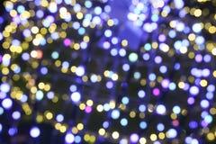 Illuminated background of Christmas decoration. Abstract blurry illuminated background of Christmas decoration Stock Photography