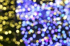 Illuminated background of Christmas decoration. Abstract blurry illuminated background of Christmas decoration Royalty Free Stock Image