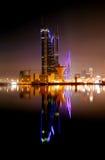 Illuminated Bahrain Financial Harbour BFH Stock Photography