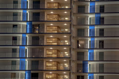 Illuminated balcony Stock Photos