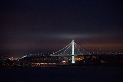 Illuminated Bay Bridge, San Francisco, California Stock Images