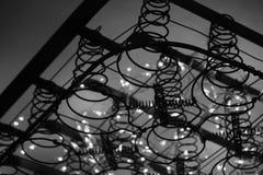 Illuminated Bedsprings in Mattress Frame Royalty Free Stock Photo