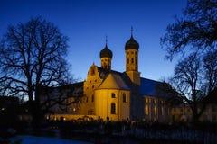 Benediktbeuern Monastery at Night Stock Image