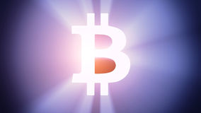 Illuminated Bitcoin Stock Photography