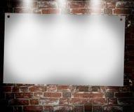 Illuminated blank banner Stock Photography