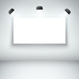Illuminated blank gallery frame Stock Photo