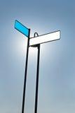 Illuminated Blank Sign Stock Image