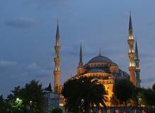 Illuminated Blue Mosque Stock Photos