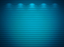 Illuminated blue wall. Abstract background Royalty Free Stock Photography