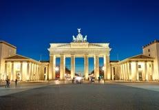 The illuminated Brandenburg Gate at dawn Royalty Free Stock Images