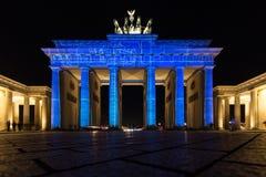 Illuminated Brandenburg Gate Royalty Free Stock Photo