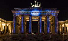 Illuminated Brandenburg Gate Stock Photography