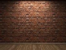 Illuminated brick wall Stock Photos