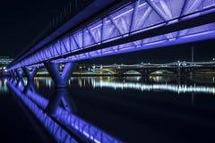 Illuminated Bridge Stock Photo