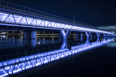 Illuminated Bridge Royalty Free Stock Photography