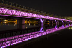 Illuminated Bridge Stock Photos
