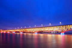 Illuminated bridge Royalty Free Stock Photo
