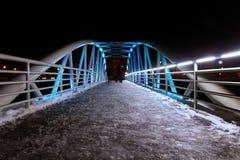 Illuminated bridge Royalty Free Stock Images