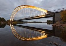 Illuminated Bridge after Sunset Stock Image