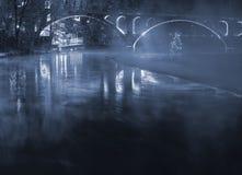 Free Illuminated Bridge With Fog Stock Images - 20506214