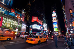 Illuminated Broadway on Times Square, USA Royalty Free Stock Photos
