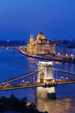 The illuminated Budapest Stock Images