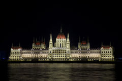 Illuminated Budapest Parliament, Hungary. Illuminated building of Budapest Parliament, Hungary Royalty Free Stock Photos