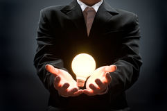 Illuminated bulb Stock Photos
