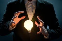 Illuminated bulb Stock Images