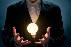 Illuminated bulb Stock Image