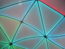 Illuminated canvas canopy. Stock Photography