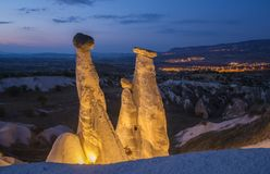 Cappadocia symbols in evening illumination Royalty Free Stock Photo