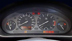 Illuminated car dashboard Royalty Free Stock Photo