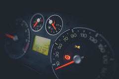 Illuminated car dashboard Royalty Free Stock Photo