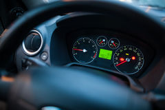 Illuminated car dashboard Royalty Free Stock Image