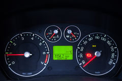 Illuminated car dashboard Royalty Free Stock Photography