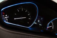 Illuminated car panel Royalty Free Stock Image