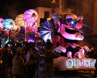 Illuminated Carnival Float Stock Photos