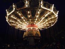 Illuminated Carousel Stock Photo