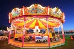 Illuminated carousel Stock Photos