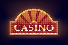 Illuminated casino signboard Stock Photo