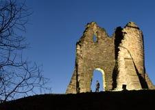 Illuminated castle Stock Photo