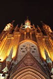 Illuminated cathedral royalty free stock photos