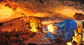 Illuminated Cave Stock Image