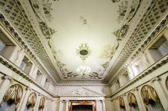 Illuminated ceiling in concert hall Royalty Free Stock Photography