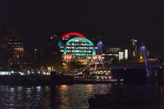 Illuminated Charing Cross railway station building royalty free stock photo