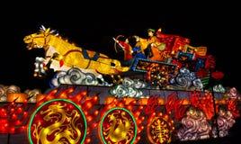 Illuminated Chinese chariot Stock Photography