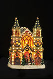 Illuminated Christmas decoration. Somewhat tacky Christmas decoration with lights Royalty Free Stock Photography