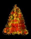Illuminated christmas presents Stock Image